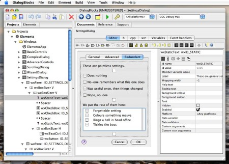 DialogBlocks under Mac OS X