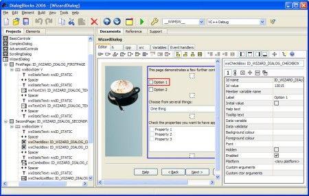 Editing a wxWizard under Windows